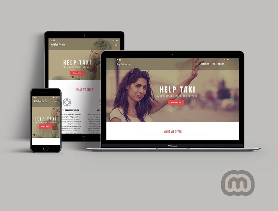 creazione siti web, sviluppo siti web, realizzazione siti web HelpTaxiForYou.Com