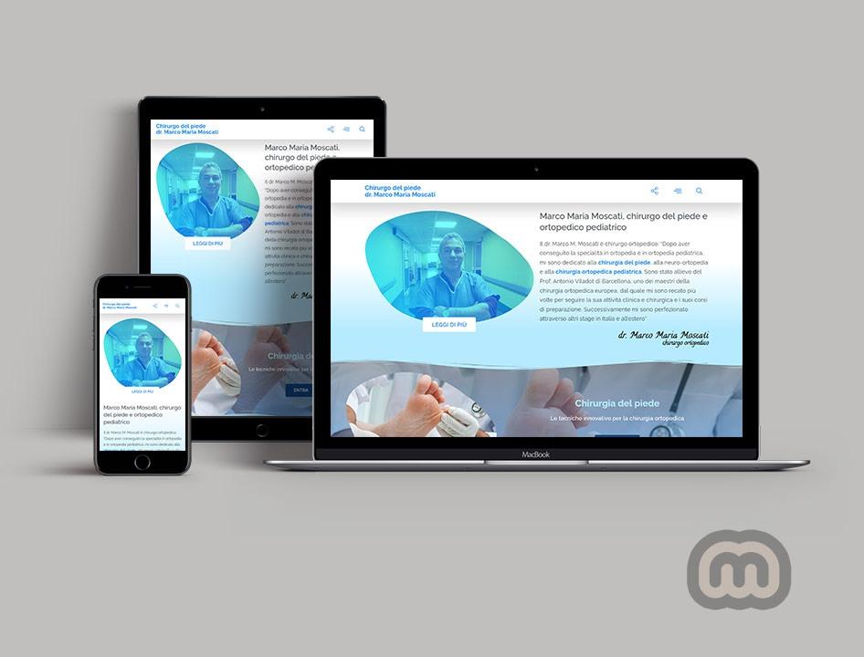 creazione siti web, sviluppo siti web, realizzazione siti web Chirurgodelpiede.it