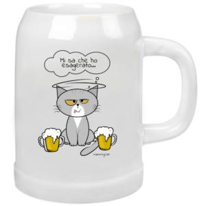 mammyCat, boccale di birra